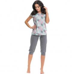 Piżama w kolorze miętowo-szarym ze wzorem - t-shirt, spodnie. Niebieskie piżamy damskie Doctor Nap, s. W wyprzedaży za 67,95 zł.