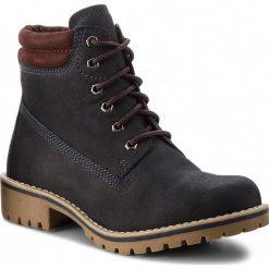 Trapery MARCO TOZZI - 2-26248-31  Navy/Bordeaux 849. Niebieskie buty zimowe damskie marki Marco Tozzi, z nubiku. W wyprzedaży za 209,00 zł.