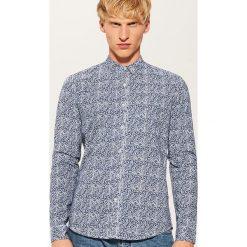Koszula w mikrowzór - Niebieski. Niebieskie koszule męskie marki House, l. Za 79,99 zł.