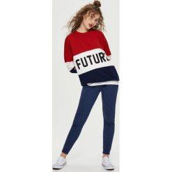 Spodnie dresowe damskie: Dresowe spodnie - Granatowy