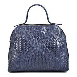 Torebki klasyczne damskie: Skórzana torebka w kolorze niebieskim – (S)27 x (W)34 x (G)16 cm