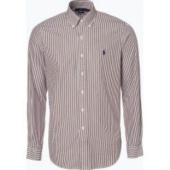 Polo Ralph Lauren - Koszula męska, brązowy. Brązowe koszule męskie na spinki Polo Ralph Lauren, l, z haftami, z klasycznym kołnierzykiem. Za 499,95 zł.