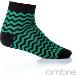 SKARPETY MĘSKIE WE WZORY U11 - ZIELONE. Zielone skarpetki męskie marki Ombre Clothing, z bawełny. Za 7,99 zł.