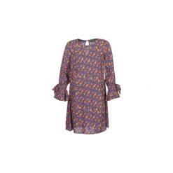 Sukienki krótkie Benetton  MARTAE. Niebieskie sukienki mini marki Benetton, l, z krótkim rękawem. Za 179,00 zł.