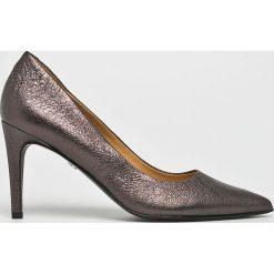 Solo Femme - Szpilki. Czarne szpilki marki Elisabetta Franchi, eleganckie, na obcasie. W wyprzedaży za 269,90 zł.