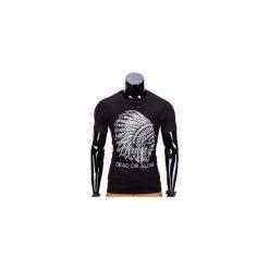 T-SHIRT MĘSKI Z NADRUKIEM S613 - CZARNY. Czarne t-shirty męskie z nadrukiem marki Ombre Clothing, m, z bawełny, z kapturem. Za 29,00 zł.