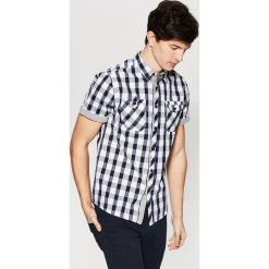Koszula w kratkę - Granatowy. Szare koszule męskie w kratę marki House, l, z bawełny. Za 69,99 zł.