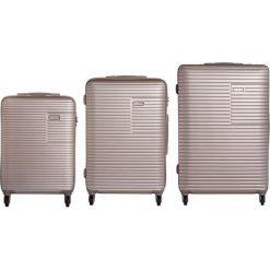 Zestaw walizek Madryt 20/24/28 Mała/Średnia/Duża. Szare walizki marki VIP COLLECTION, duże. Za 1084,88 zł.