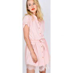 Sukienki: Sukienka koszulowa z koronką