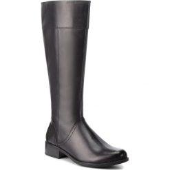 Oficerki CAPRICE - 9-25511-21 Black Nappa 022. Czarne buty zimowe damskie Caprice, z materiału, na obcasie. Za 399,90 zł.