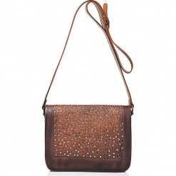 Skórzana torebka w kolorze brązowym - 26,5 x 19 x 8 cm. Brązowe torebki klasyczne damskie I MEDICI FIRENZE, w paski, z materiału. W wyprzedaży za 391,95 zł.