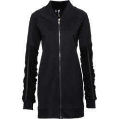 Bluzy rozpinane damskie: Bluza rozpinana z haftem bonprix czarny