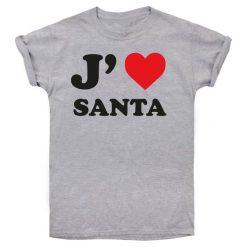 Christmas T-Shirt T-Shirt Damski I Love Santa Xl Szary. Szare t-shirty damskie Christmas T-Shirt, s. Za 45,00 zł.