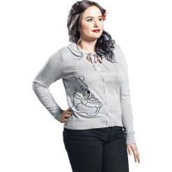 Kardigany damskie: Kubuś Puchatek Pooh Intarsia Kardigan damski odcienie jasnoszarego