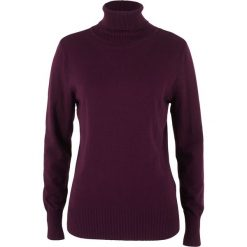 Golfy damskie: Sweter z golfem bonprix czarny bez