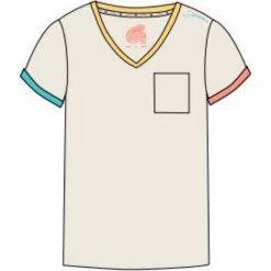 Bluzki asymetryczne: IGUANA Koszulka damska Lanre W Egret/ Colorful r.  XL
