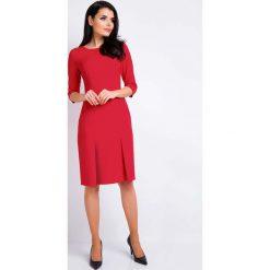 Czerwona Ołówkowa Wizytowa Sukienka z Dołem w Zakładki. Czarne sukienki balowe marki Reserved. Za 129,90 zł.