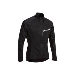 Koszulka długi rękaw na rower ROADCYCLING 500 męska. Czarne odzież rowerowa męska B'TWIN, na jesień, m, z elastanu, z długim rękawem, rowerowe. Za 79,99 zł.
