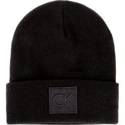 Czapka CALVIN KLEIN - Ck Beanie K50K503209 001. Czarne czapki damskie Calvin Klein, z materiału. W wyprzedaży za 169,00 zł.