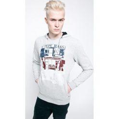 Pepe Jeans - Bluza. Szare bejsbolówki męskie Pepe Jeans, m, z nadrukiem, z bawełny, z kapturem. W wyprzedaży za 199,90 zł.
