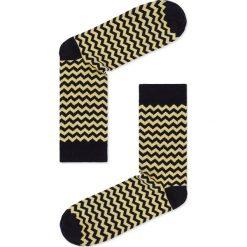 SKARPETY MĘSKIE WE WZORY U24 - ŻÓŁTE. Żółte skarpetki męskie Ombre Clothing, z bawełny. Za 7,99 zł.