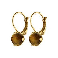 Kolczyki damskie: Kolczyki w kolorze złotym z ozdobnym kamieniem