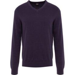 BOSS CASUAL ALBONOP Sweter dark blue. Niebieskie swetry klasyczne męskie BOSS Casual, m, z bawełny. Za 499,00 zł.