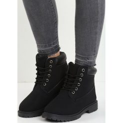 Czarne Traperki Untoward. Czarne buty zimowe damskie Born2be, na obcasie. Za 79,99 zł.