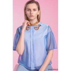 Bluzki asymetryczne: Bluzka z motylem