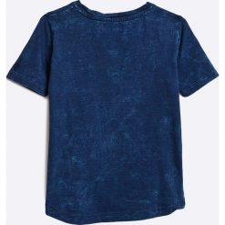 Blue Seven - Top dziecięcy 92-128 cm. Niebieskie bluzki dziewczęce Blue Seven, z nadrukiem, z bawełny, z okrągłym kołnierzem, z krótkim rękawem. W wyprzedaży za 24,90 zł.