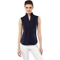 Bluzka w kolorze granatowym. Niebieskie topy sportowe damskie marki Vincenzo Boretti, z bawełny, ze stójką, z długim rękawem. W wyprzedaży za 295,95 zł.