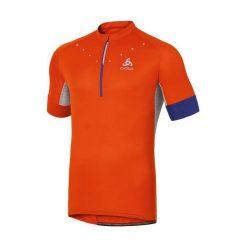 Odlo Koszulka rowerowa Stand-up Collar s/s 1/2 Zip Isola pomarańczowa r. XXL (410912XXL). Koszulki sportowe męskie Odlo, m. Za 147,44 zł.
