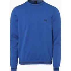 Swetry klasyczne męskie: BOSS Athleisure – Sweter męski – Rime_S18, niebieski