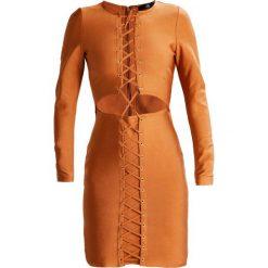 Sukienki: Missguided PREMIUM BANDAGE LACE UP  Sukienka koktajlowa rust