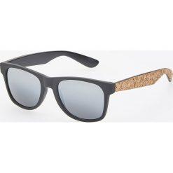 Okulary przeciwsłoneczne - Beżowy. Brązowe okulary przeciwsłoneczne męskie aviatory Reserved. Za 49,99 zł.