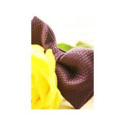 Purpurowa Mucha. Fioletowe muchy męskie Edyta kleist, w paski, z tkaniny, eleganckie. Za 99,00 zł.
