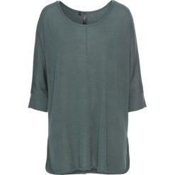 Sweter dzianinowy bonprix zielony eukaliptusowy. Zielone swetry oversize damskie bonprix, z dzianiny. Za 74,99 zł.