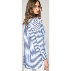 Only - Koszula Melrose. Szare koszule damskie ONLY, w paski, z bawełny, casualowe, z klasycznym kołnierzykiem, z długim rękawem. W wyprzedaży za 99,90 zł.