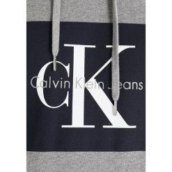 Calvin Klein Jeans HOTORO Bluza z kapturem light grey heather. Szare bluzy męskie rozpinane marki Calvin Klein Jeans, m, z bawełny, z kapturem. W wyprzedaży za 439,20 zł.
