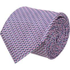 Krawaty męskie: krawat platinum fiolet classic 207