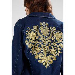 Ivyrevel LAYNE JACKET Kurtka jeansowa dark denim/gold. Niebieskie kurtki damskie jeansowe marki Ivyrevel. W wyprzedaży za 487,20 zł.