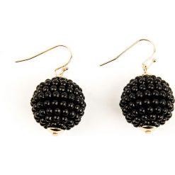 Kolczyki damskie: NA-KD Accessories Kolczyki w kształcie okrągłych kul – Black