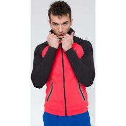 Bluzy męskie: Bluza treningowa męska BLMF207 – czerwony – 4F