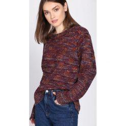 Swetry klasyczne damskie: Bordowy Sweter Proportion
