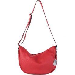 Torebki klasyczne damskie: Skórzana torebka w kolorze czerwonym - 28 x 20 x 11 cm