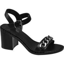 Rzymianki damskie: sandały damskie Catwalk czarne