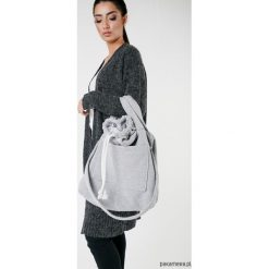 Torba dzianinowa szara. Szare torebki klasyczne damskie Pakamera, z bawełny, duże. Za 93,00 zł.