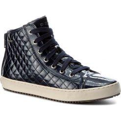 Sneakersy GEOX - J Kalispera G.F J744GF 000KC C4002 Navy. Niebieskie buty sportowe chłopięce Geox, ze skóry ekologicznej, na sznurówki. W wyprzedaży za 209,00 zł.