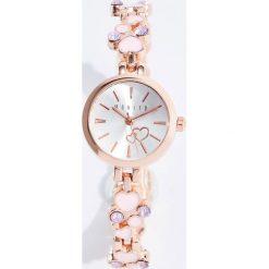 Zegarki damskie: Zegarek z ozdobną bransoletą – Wielobarwn