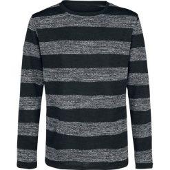Forplay Stripe Sweater Sweter z dzianiny czarny/szary. Czarne swetry klasyczne męskie Forplay, xl, z dzianiny, z okrągłym kołnierzem. Za 144,90 zł.